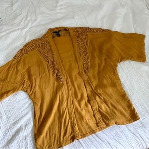 FOREVER 21 Ochre Open Layering Blouse / Small